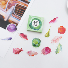 40 pcs/pack Cute Watercolor ink paper sticker DIY diary album decoration stickers scrapbooking planner label Scrapbook stickers