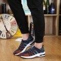 2016 Nova Primavera dos homens Sapatos Casuais Estilo de Coréia Tendência Da Moda Respirável Baixo Para Ajudar Sapatos de Tiras Não-slip Sapatas Dos Homens macios