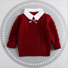 casido 2016 new fashion baby children clothing boys girls sweater kids autumn/winter cotton warm knitted tern-down collar sweate