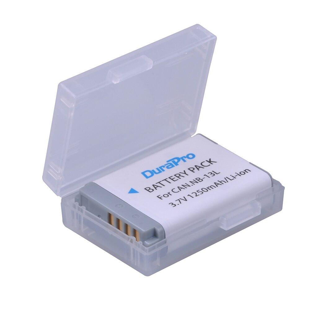 DuraPro 1pc NB-13L 13L NB13L Li-ion Bateria Da Câmera para Canon PowerShot NB G5 X G5X G7 X G7X G7 X Mark II G9 X G9X Bateria Da Câmera
