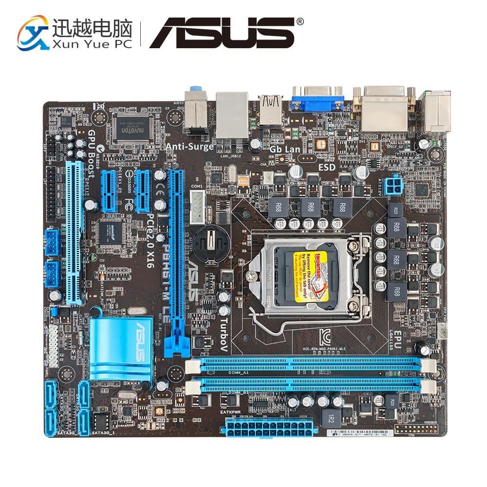 Asus P8H61-M LE Desktop Motherboard H61 Socket LGA 1155 i3 i5 i7 DDR3 16G uATX On Sale used p8h61 i desktop motherboard for intel h61 socket lga 1155 for i3 i5 i7 ddr3 16g usb3 0 mini itx