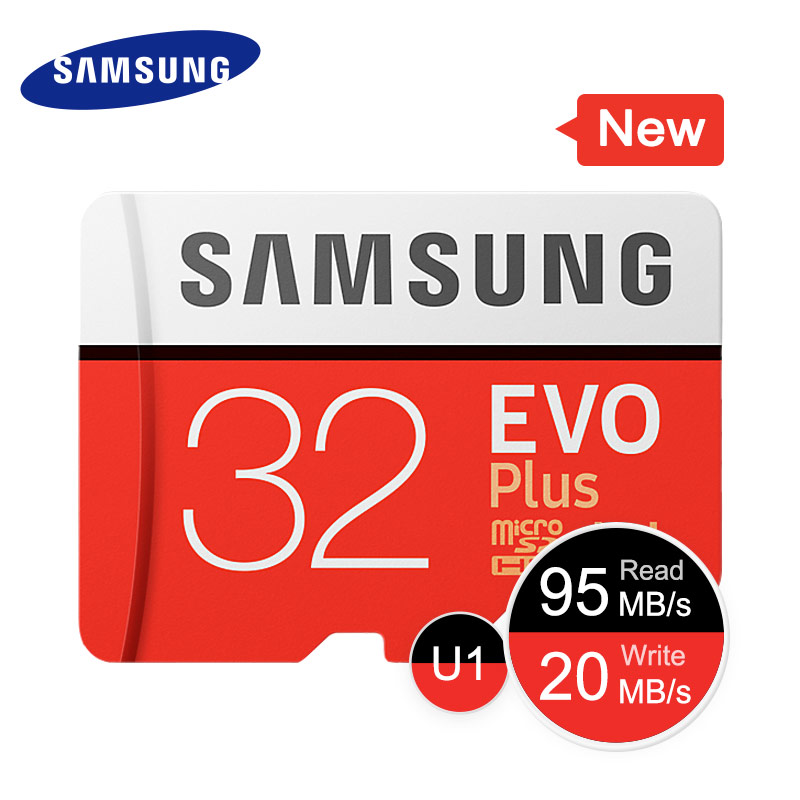 SAMSUNG Memory Card Micro SD 32G 64G 128G 256G 512GB SDHC SDXC Grade EVO+ Class 10 C10 UHS TF Cards Trans Micro up to 95mb/s New-in Micro SD Cards from Computer & Office