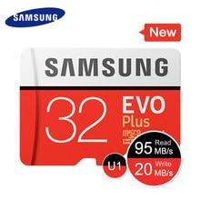 بطاقة ذاكرة سامسونج مايكرو SD 32G 64G 128G 256G 512GB SDHC SDXC الدرجة EVO + الفئة 10 C10 بطاقات UHS TF عبر مايكرو تصل إلى 95 برميل/الثانية جديد