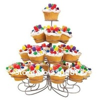 New Spin Dessert Cupcake Stand Tree Holder Muffin Serving Birthday Cake 23 Cup Party 4 Tier