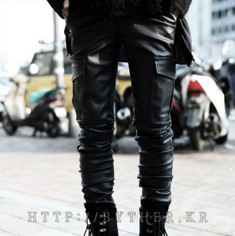 Pantalones Tamaño Pants Estilo Leather Trajes Locomotora Ropa De Causal Nuevo Hombres 44 Moda Más 27 Cuero 2018 Estilista ZnxC4Pgnqw