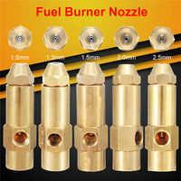 1Pc nuevo morir Sel residuos pesados aceite a base de Alcohol quemador de combustible boquilla de Spray 1/1 3/1 5/2/2,5mm diferentes tamaños piezas de herramientas de Metal de latón