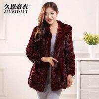 2016 new winter fashion fur mink fight mink hooded long section of female mink coat grass