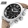 JEDIR Watches Men Top Brand Military Quartz-watch Mens Luxury fashion casual Watch leather strap Clock 30M Waterproof Wristwatch