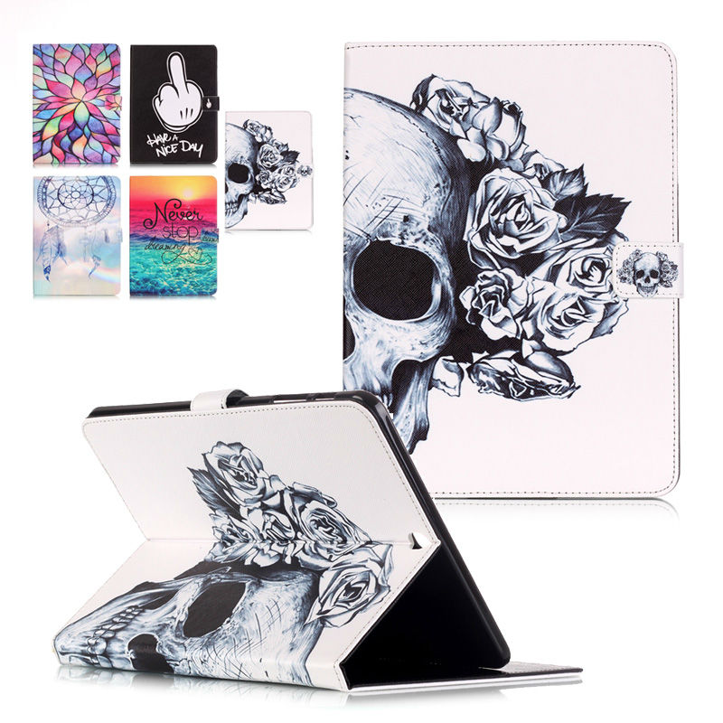 High Quality For Samsung Galaxy Tab S2 9.7 T815 T810 SM-T815 9.7inch Painted Style Leather TPU Case with Card Slots