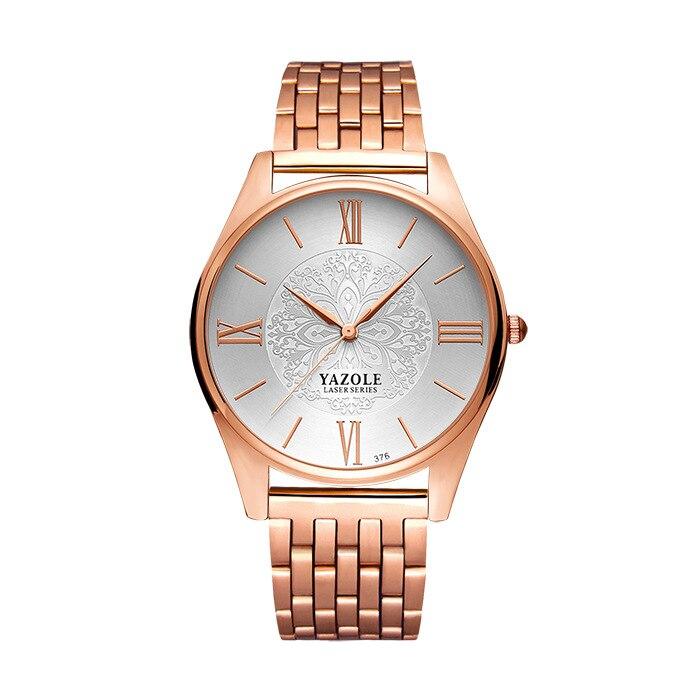 YAZOLE розовое золото часы Для женщин Дамы бренд класса люкс 2018 наручные часы для женский часы золотые кварцевые наручные часы Montre Femme