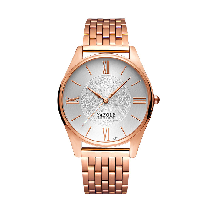 YAZOLE reloj de oro rosa mujeres señoras marca de lujo 2018 relojes para mujer reloj oro reloj del cuarzo horas Montre Femme