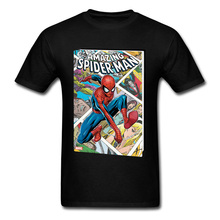 Crazy Aamazing Spider Man Comic Marvel Mens Tops Shirt Endgame Super Hero Casual Great Tee Shirts Free Shipping