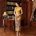 2016 Nova Vestido Longo Cheongsam Qipao Moderno Vestido Sexy Vestidos Vestido Tradicional Chinês Vestido Oriental Chinês Qi Pao