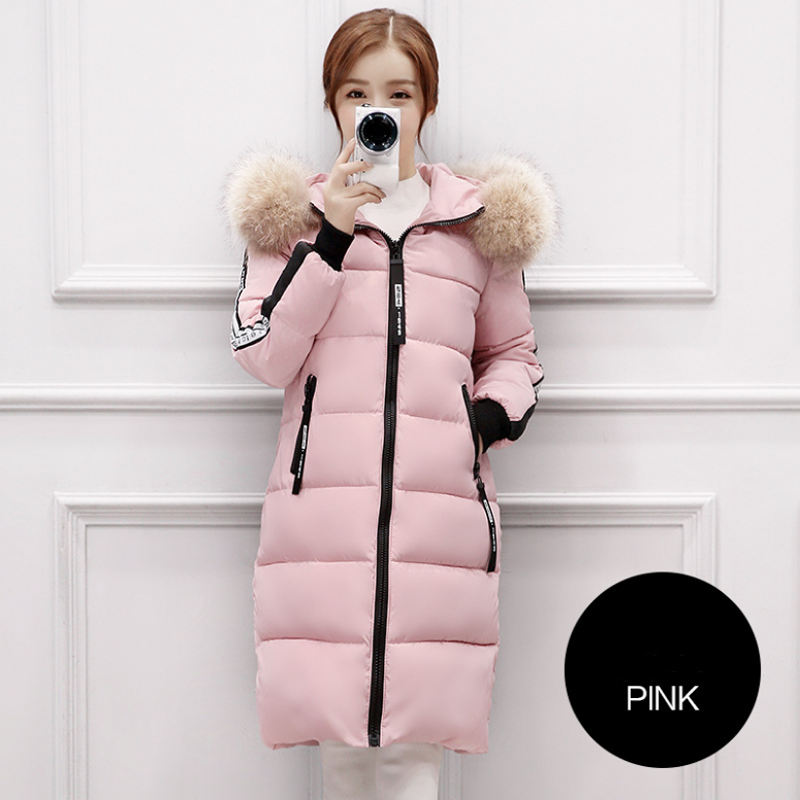 2017 Top Brand New Parkas Female Women Winter Coat Thickening Cotton Jacket Outwear Fashion Long Coat