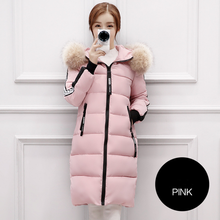 2017 Top Brand New Parkas Female Women Winter Coat Thickening Cotton Jacket Outwear Fashion Long Coat Colors Oversize