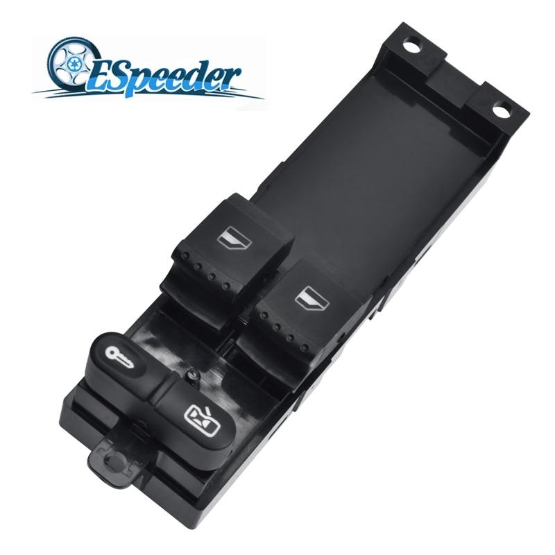 ESPEEDER Electric Master Control Power Door Window Switch Button For Skoda Fabia Octavia VW Golf MK4 2 Door 1J3959857A