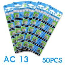Bateria de Célula tipo Moeda 11.11 Venda Quente 50 PCS Ag13 Lr44 357a S76e Ee6257 G13 Botão Baterias 1.55 V Alcalinas