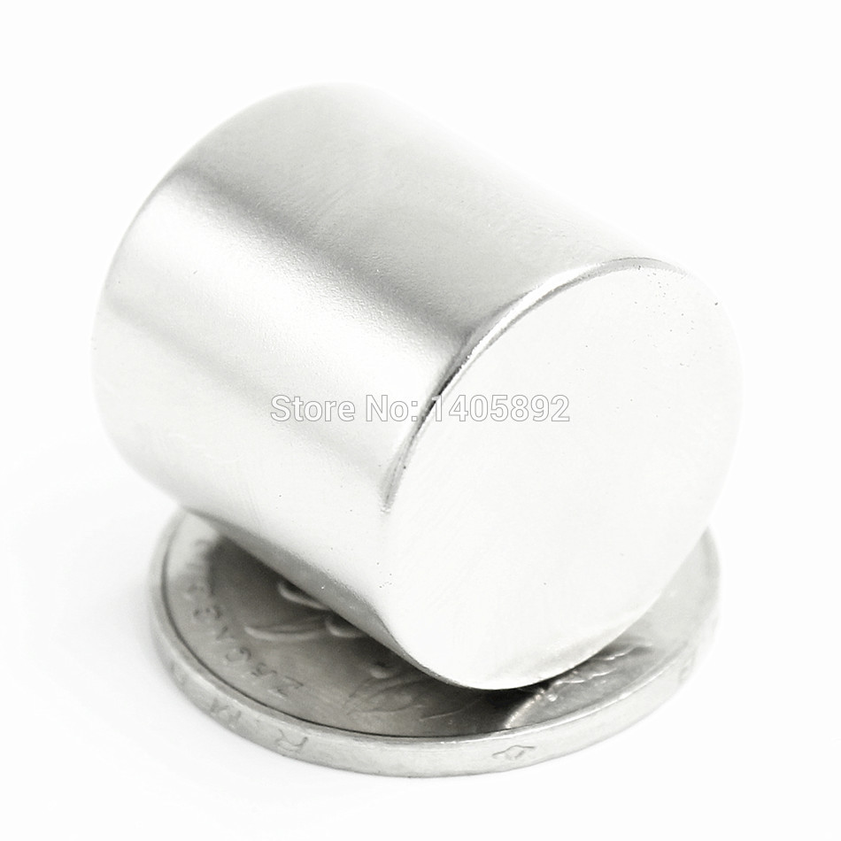 1pcs Super Powerful Strong Bulk Small Round NdFeB Neodymium Disc Magnets Dia 20mm x 20mm N35 Rare Earth NdFeB Magnet 5 x 20mm cylindrical ndfeb magnet silver 20pcs pack