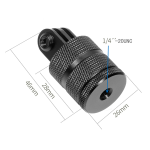 Image 2 - F15580 Aluminium 360 Degree Rotation 12 Direction Positions Camera CNC Connector Tripod Mount for GoPro 9/8 /MAX for Gopro All