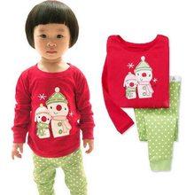 Baby Girls Boys Christmas Pajamas Set Kids Green Dot Pant Xmas Cotton PJS  Children 2Pcs Clothing Set Family Pajamas P123 f30ba81dd