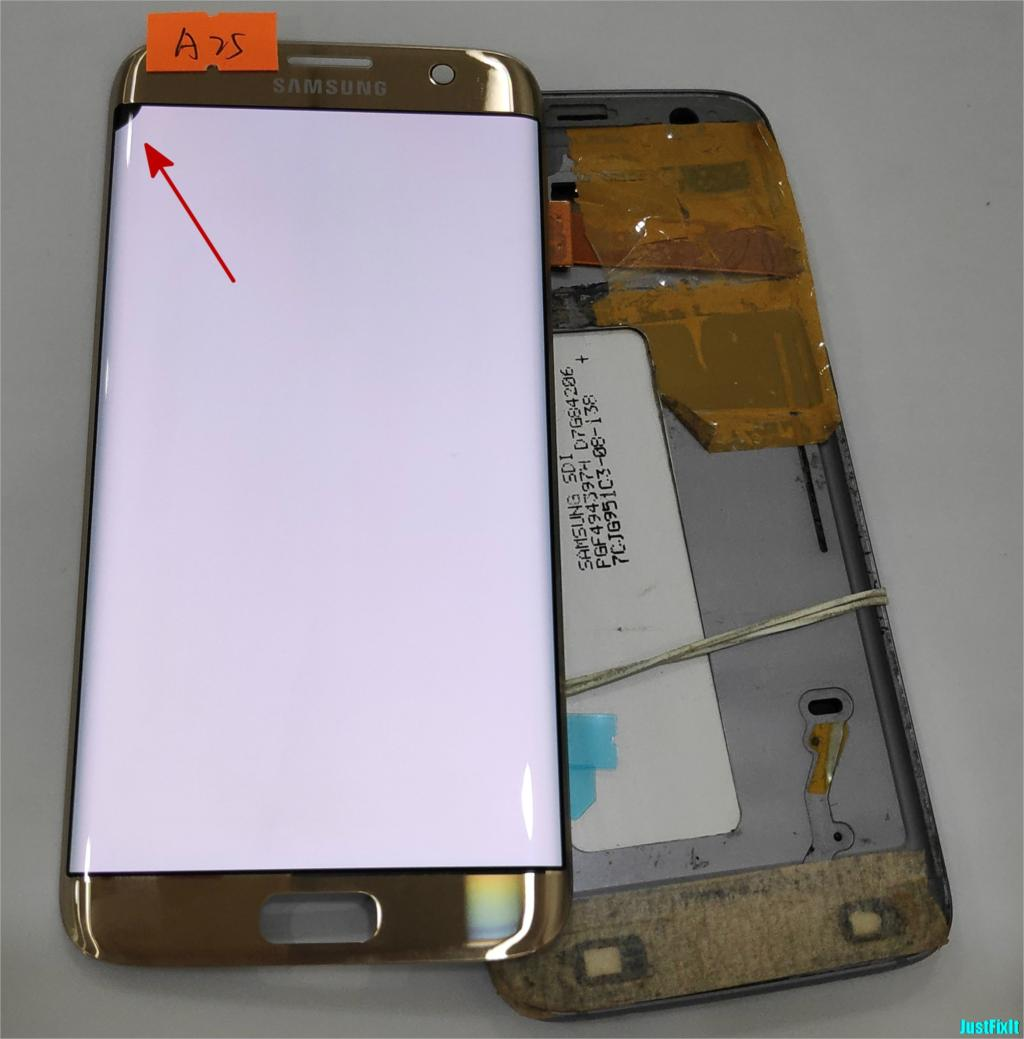 NO A25 for Samsung Galaxy S7 edge G935F G935A G935FD Defect lcd display with touch screen