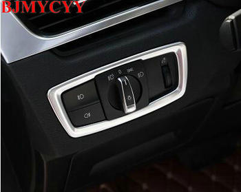 BJMYCYY Headlight Switch Box Trim Decal Car Styling Interior Modified Accessories Sticker for BMW X1 F48 2015 2016 20i 25i 25le image
