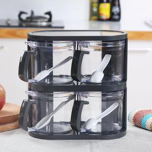 Storage Box Jar Plastic Lid Storage Containers Kitchen