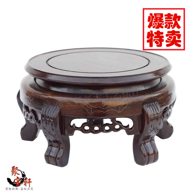 wood carving handicraft circular base catalpa woodcarving figure of Buddha stone are recommended vase furnishing articles wood carving rosewood household act the role ofing is tasted of buddha vase basin handicraft furnishing articles on sale
