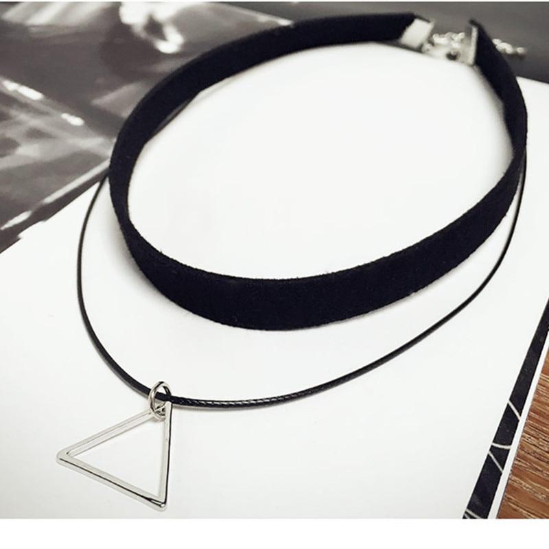 Collares gargantillas multicapa N757 para mujer, collar con colgante geométrico triangular, joyas, bisutería 2018