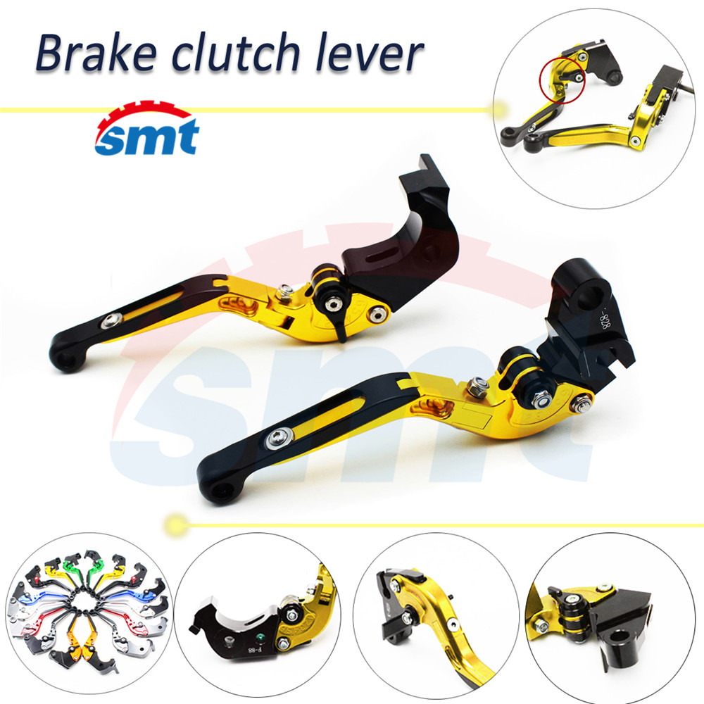 Brand New Motorcycle CNC Folding&Extending Brake Clutch Levers Golden Clutch Brake Lever For BMW K1200R SPORT 2006 2007 2008 new brand 8 colors optional brake lever black folding