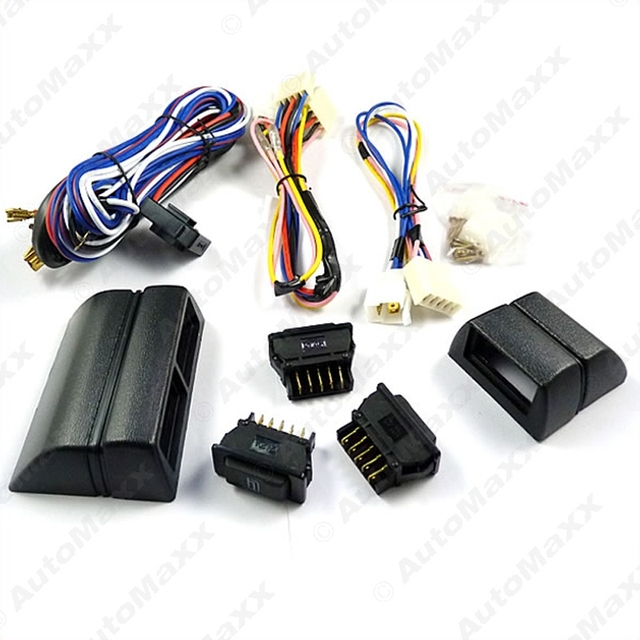 Universal power window 3pcs switches with Holder and wire Harness #J-2468
