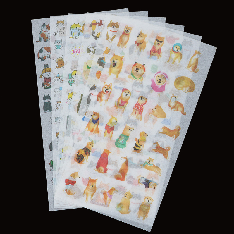 6 Pieces/bag. Japanese Cute Shiba Inu Dog Decorative Stickers Children Stationery Stickers Diy Decorative Diary Sticker Set Gift