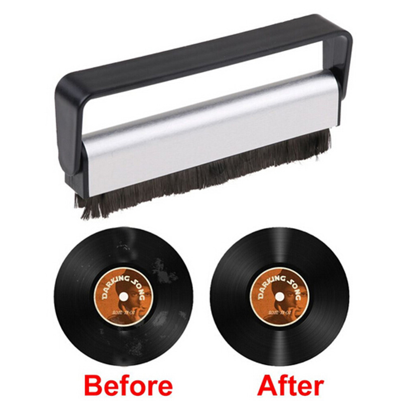 NEW Useful Turntable Player Accessory Carbon Fiber Record Cleaner Cleaning Brush Vinyl Anti Static Dust Remover Brush For CD/LP