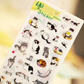 6 Pcs/Set Creative Cute PVC Cartoon Animals Cats Toys for Children DIY Sticker Baby Kids Early Learning Lovely Fun Game Gifts