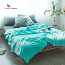 Slowdream Tiffany Blue Flannel Blanket Throw Soft Print Winter Elegant Wrap Super Sleeping Bed 5 Size 1pcs