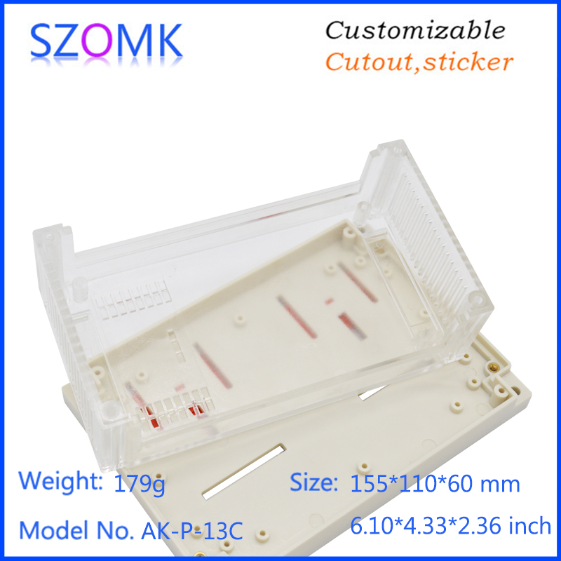 szomk plastic din rail enclosure electronics box PLC instrument plastic housing case plastic junction box (13)
