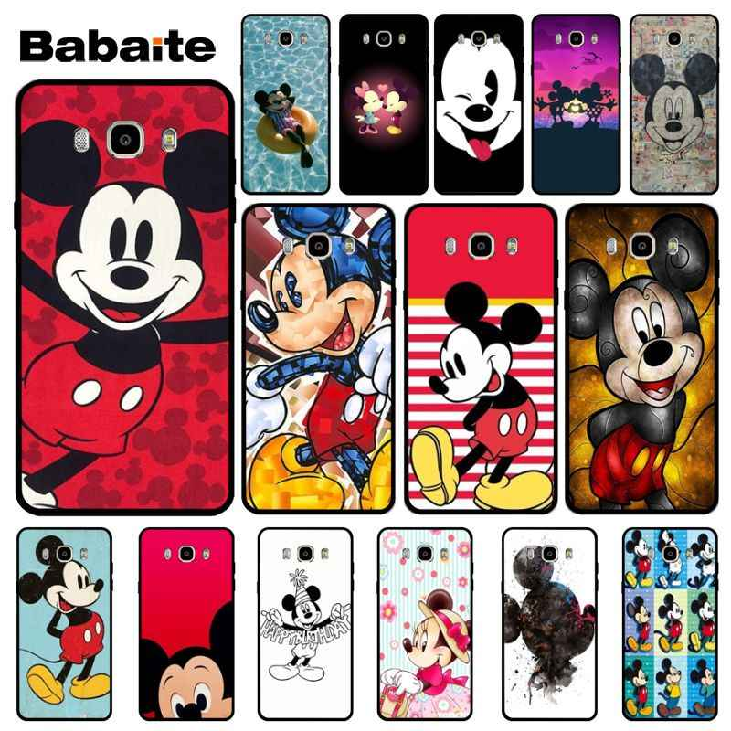 Babaite Cartoon Mickey Mouse TPU black Phone Case Cover Shell For Samsung J2 PRIME J2 Pro 2018 J4 puls J6 PRIME J7 DUO