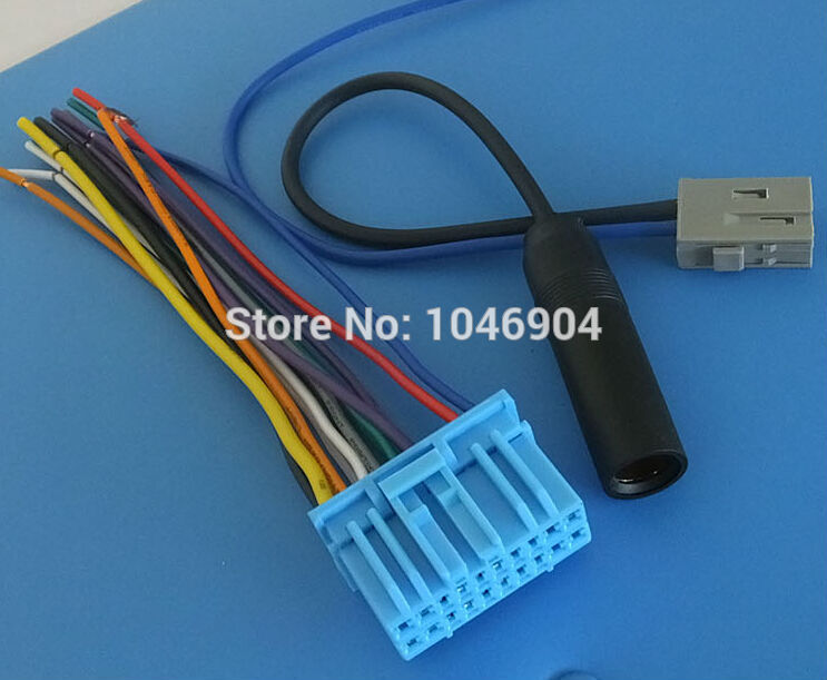 FREE SHIPPING CAR AUDIO STEREO WIRE Hyatt Wire Harness with antenna ...