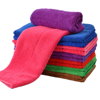 Kitchen Towel Coral Velvet Super Absorbent Rag with Hook Towel Double Thick Scouring Pad Use Home