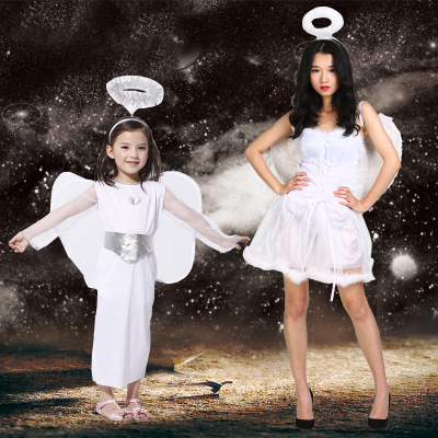 Carnival evangelion costume White angel costume for girls Women angel dress Angel cosplay costume Halloween costume for girls