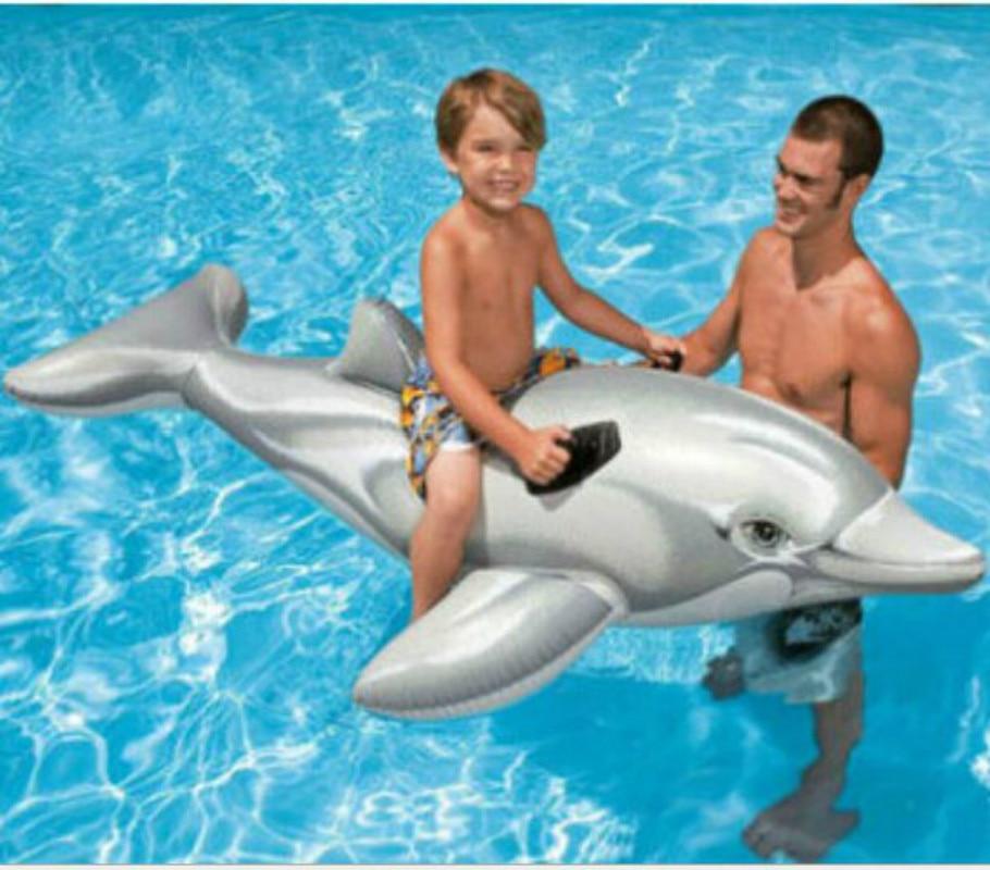 Hot Sale Summer Vocation Kids  Inflatable Games Dolphine  Swimming Pool.175*66 Inflatable Games Swimmer