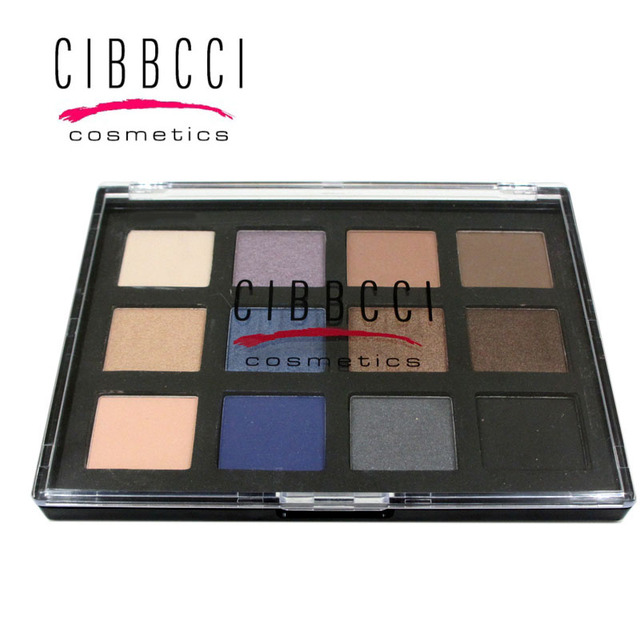 NEW brand CIBBCCI 12 color eyeshadow Palette matte shimmer natural lasting beauty cosmetics Easy on the makeup Beginner's Choice