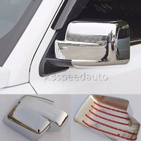 For Jeep Patriot 2011 2015 Side Door rearview Mirror Cover Trims 2pcs with LOGO Chrome ABS Car styling