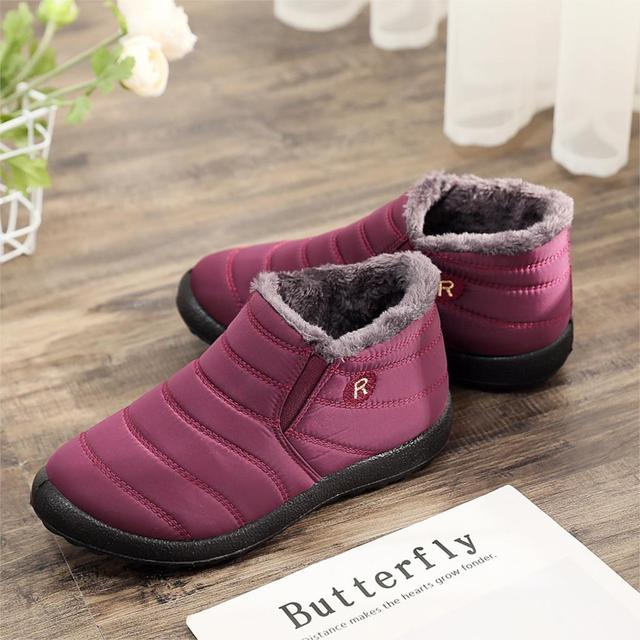 Women Winter Boots Unisex Couples Snow Boots Women Ankle Shoes New Fashion Color Ladies Ankle Boots  Waterproof Shoes Keep Warm 1