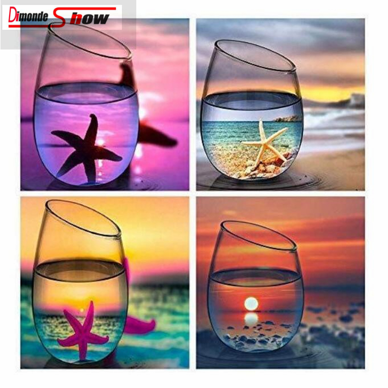 4 Pack 5d Diamond Painting Kits for Adults Kids Set Cup Full Drill Diamond dotz for Home Wall Decor4 Pack 5d Diamond Painting Kits for Adults Kids Set Cup Full Drill Diamond dotz for Home Wall Decor
