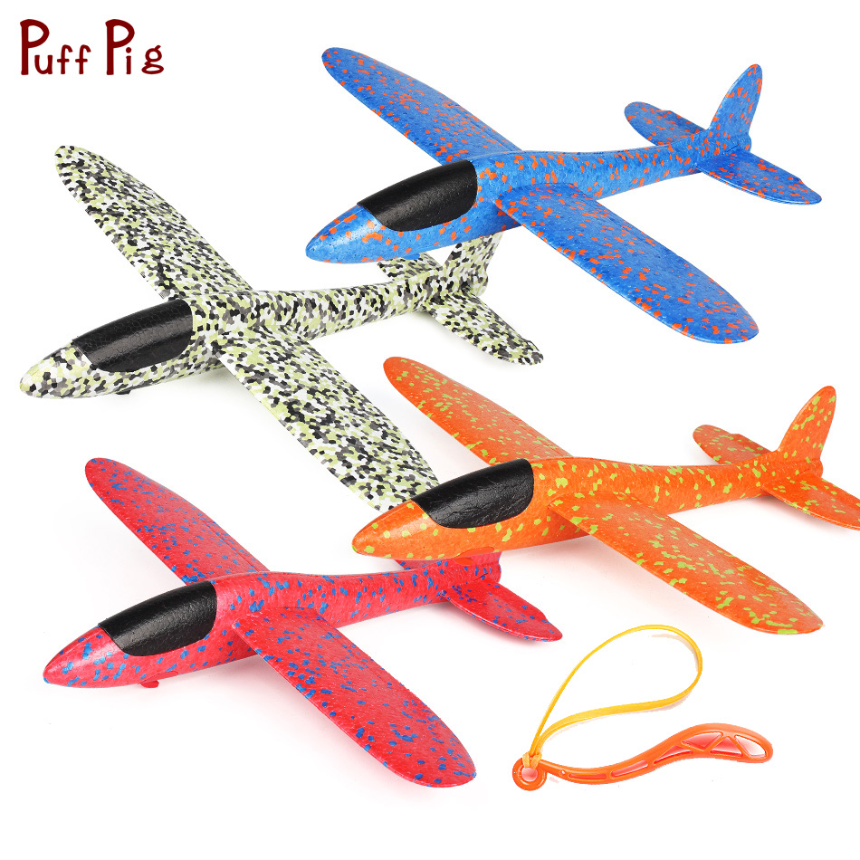 Big 38cm Kids Toys Hand Throw Airplane Flying Glider Planes EPP Foam Aeroplane Model Party Bag Fillers Outdoor Launch Game Toy