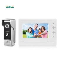 7 Inch Wireless/WiFi Smart IP Video Door Phone Intercom System with IR Wired Doorbell Camera,Support Remote unlock
