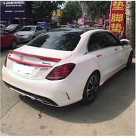 car accessories Benz W205 Spoiler High Quality ABS Car Rear Wing Spoiler For Benz W205 C180 C200 C260 C280 C300 Spoiler 15-18