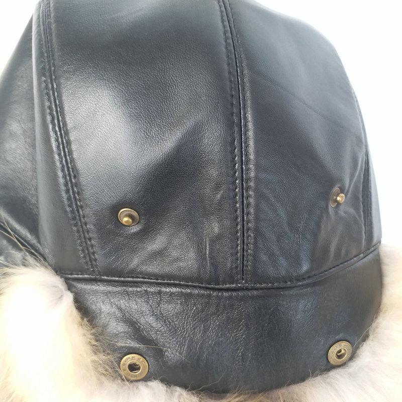 Caliente de alta gama de piel de lujo sombrero de piel de zorro de los hombres Lei Feng cap ear cap piel necesaria sombrero - 5