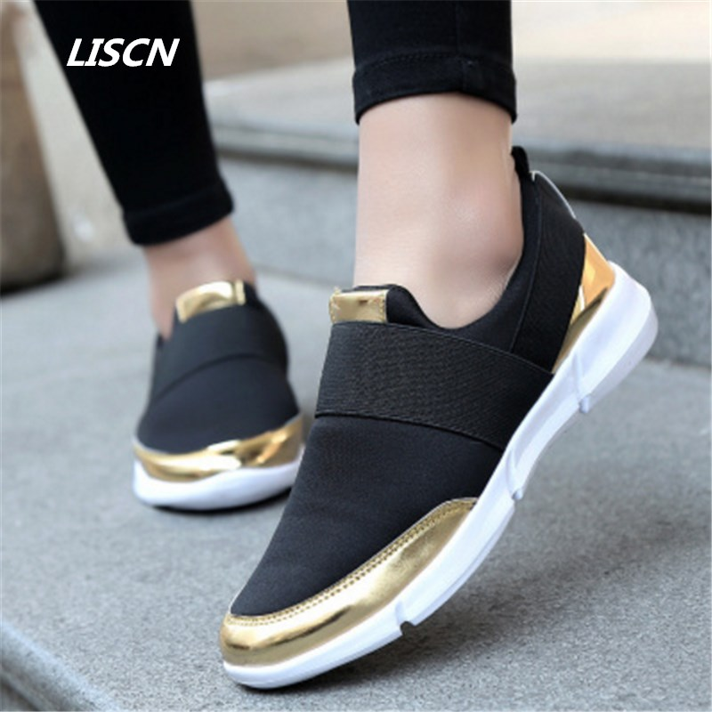 2018 Summer Women sneakers Shoes Female Platform Shoes Slip On Women Flat Tenis Feminino Casual Shoes Ladies Flats Women summer women ballet flats mary jane shoes buckle strap black casual wedges shoes ladies anti slip slip on flat sapato feminino